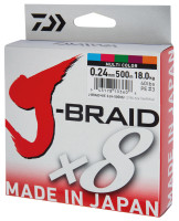 DAIWA J-BRAID X8 MULTICOLOR UPREDENICA 0.28MM-300M
