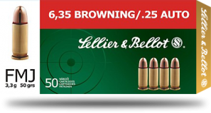 S&B 6,35 BROWNING FMJ 3,3GR.