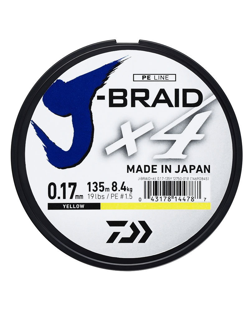 DAIWA J-BRAID X4 UPREDENICA 0,13-0,33MM/135M