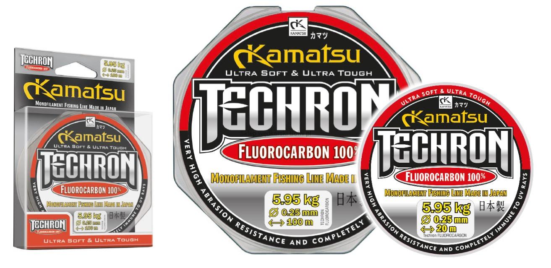 KAMATSU TECHRON 100% FLUOROCARBON 0,26MM/20M